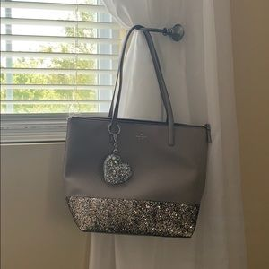 EUC Kate Spade Glitter Purse and Keychain